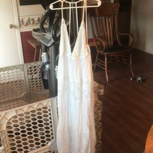 White beach style reception dress Sundress
